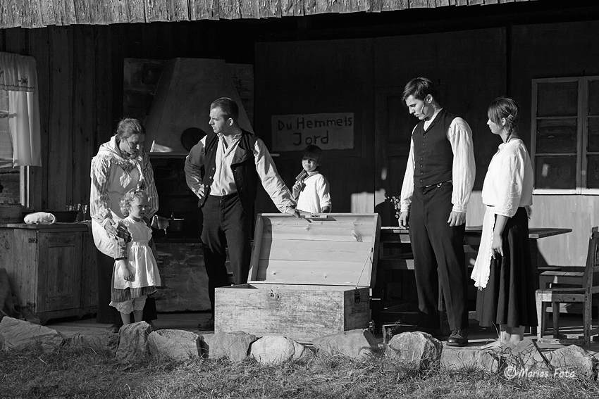 Familjen vid kistan